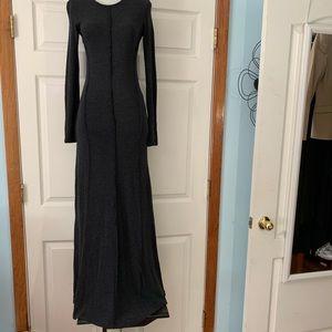 Zara size s small gray sweater maxi dress